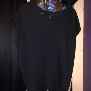 WHBM black v neck shirt